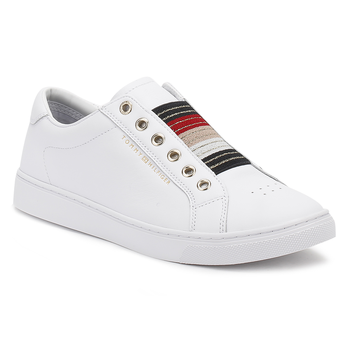 Embossed Leather Trainers - Sales Up to -50% Tommy Hilfiger p2z8m