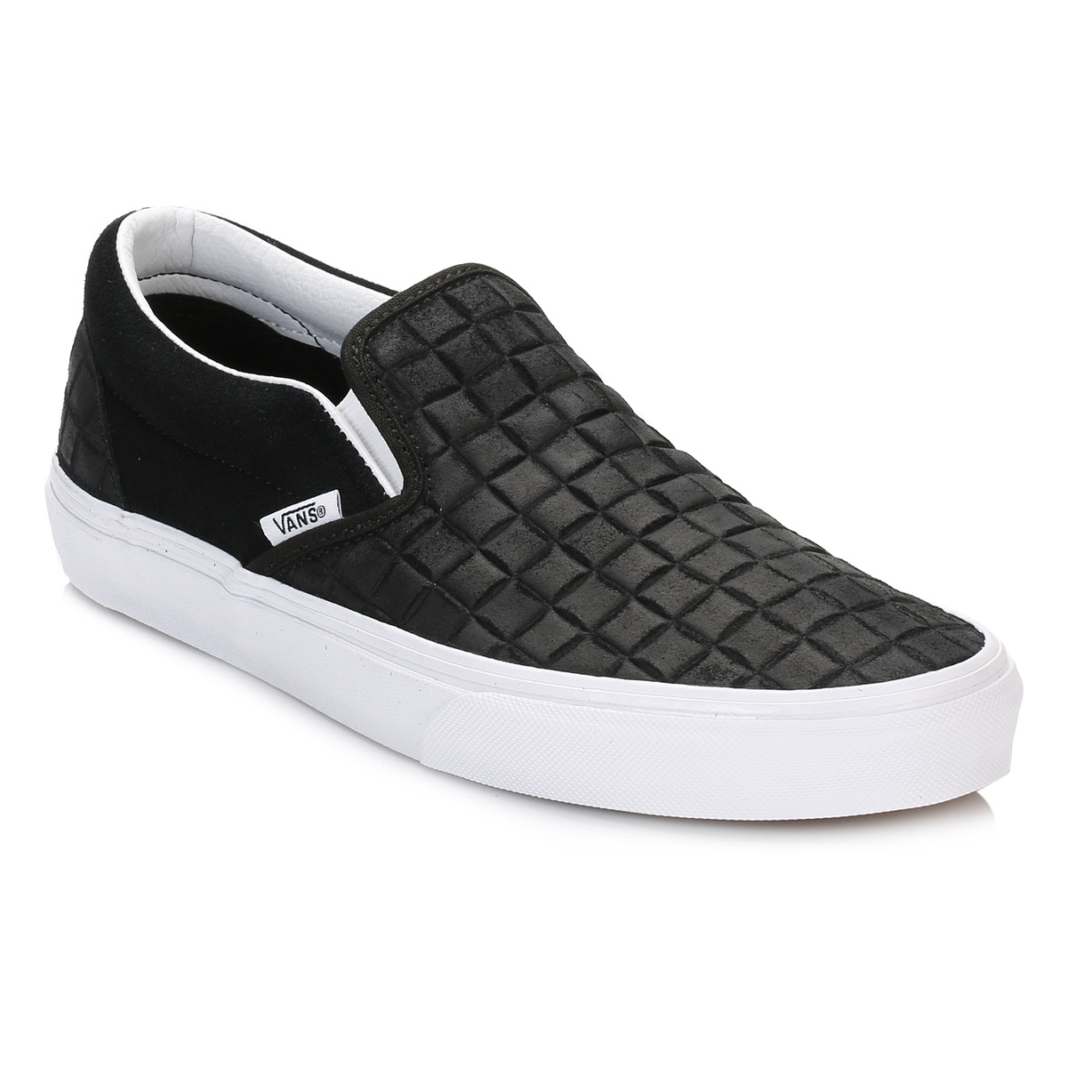 NUOVA linea uomo Vans Black Classic Slip On Pelle Scamosciata Scarpe Da Ginnastica Scarpe Da Ginnastica