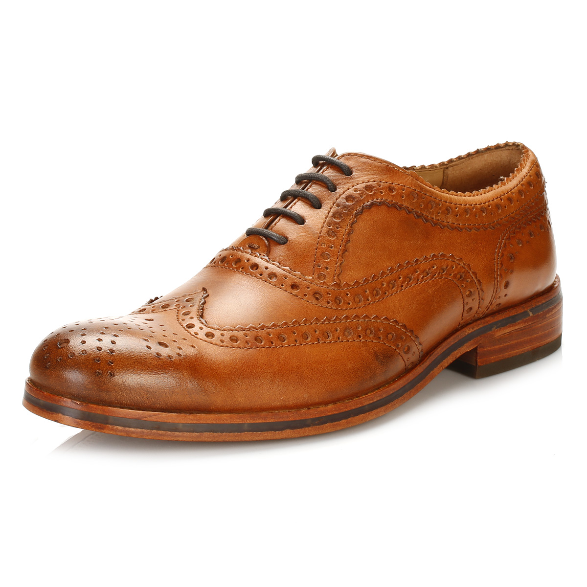 Mens Soft Leather Brown Shoes