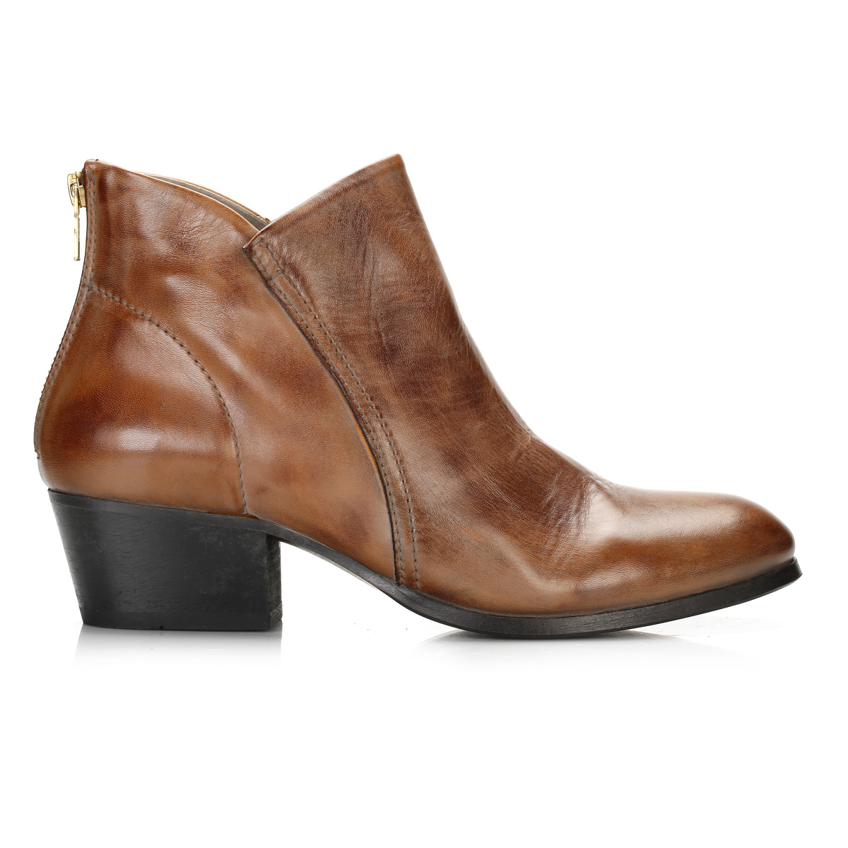 hudson womens apisi ankle boots back zip mid heel