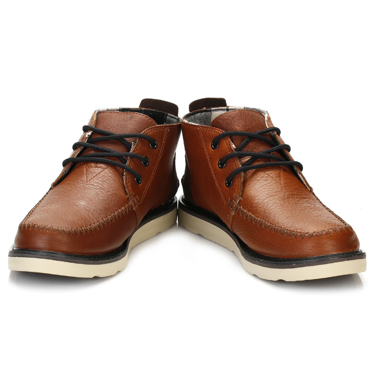 toms mens ankle boots brown waterproof chukka style lace