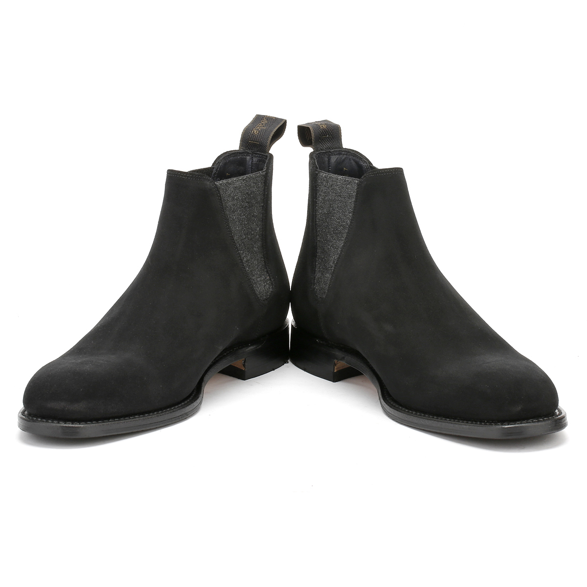 Loake Black Suede Shoes