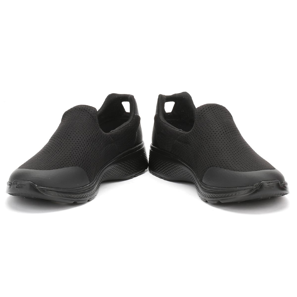 Skechers Go Walk  Black Mens Slip On Shoes