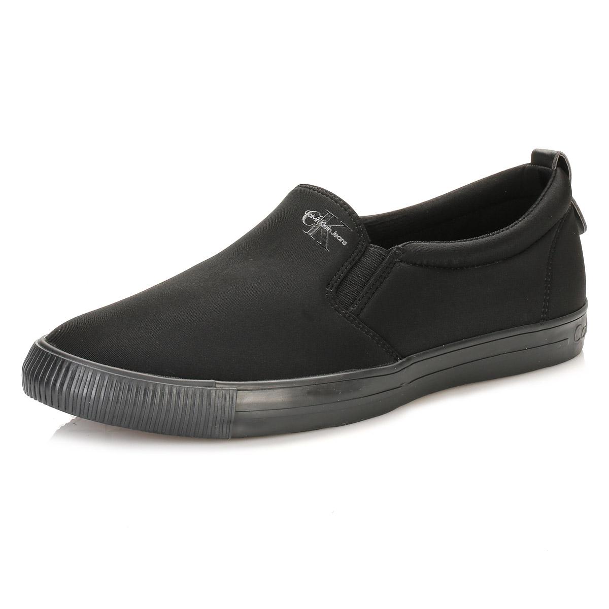 calvin klein ck mens trainers black armand neoprene casual