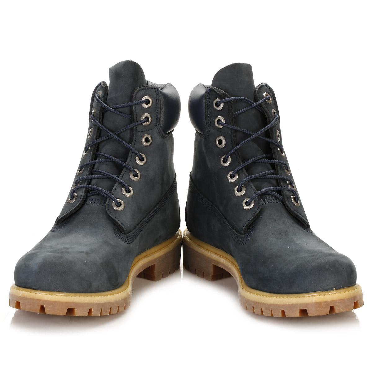 timberland mens navy blue nubuck boots 6 inch waterproof