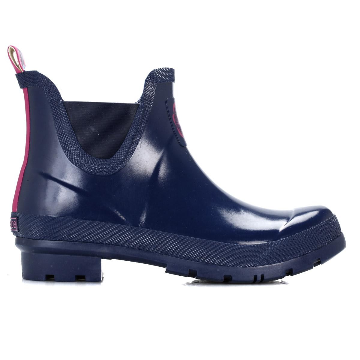 joules womens boots navy blue wellibob wellington