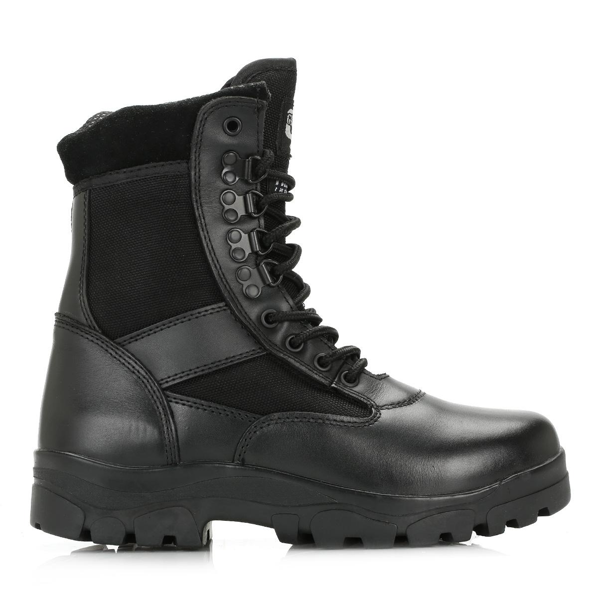 Mens Grafters Waterproof Combat Boots Size Uk 3 - 12 Non-Metallic Black M107a Kd-Uk 10 (eu 44) IPpp39
