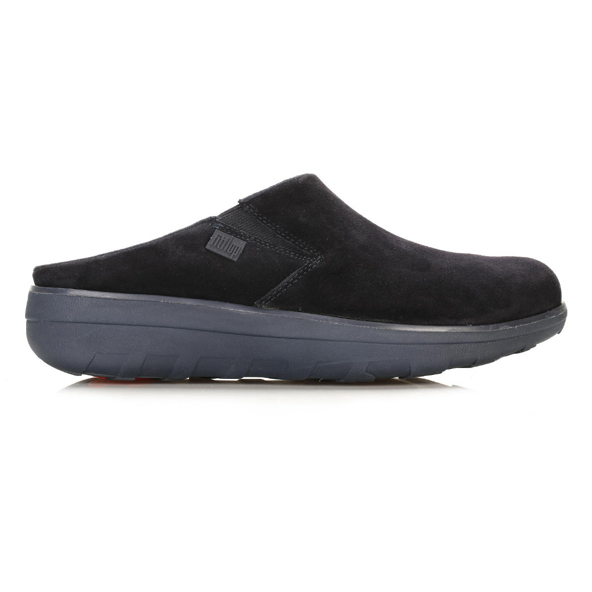 fitflop womens navy blue loaff suede clogs slip on shoes