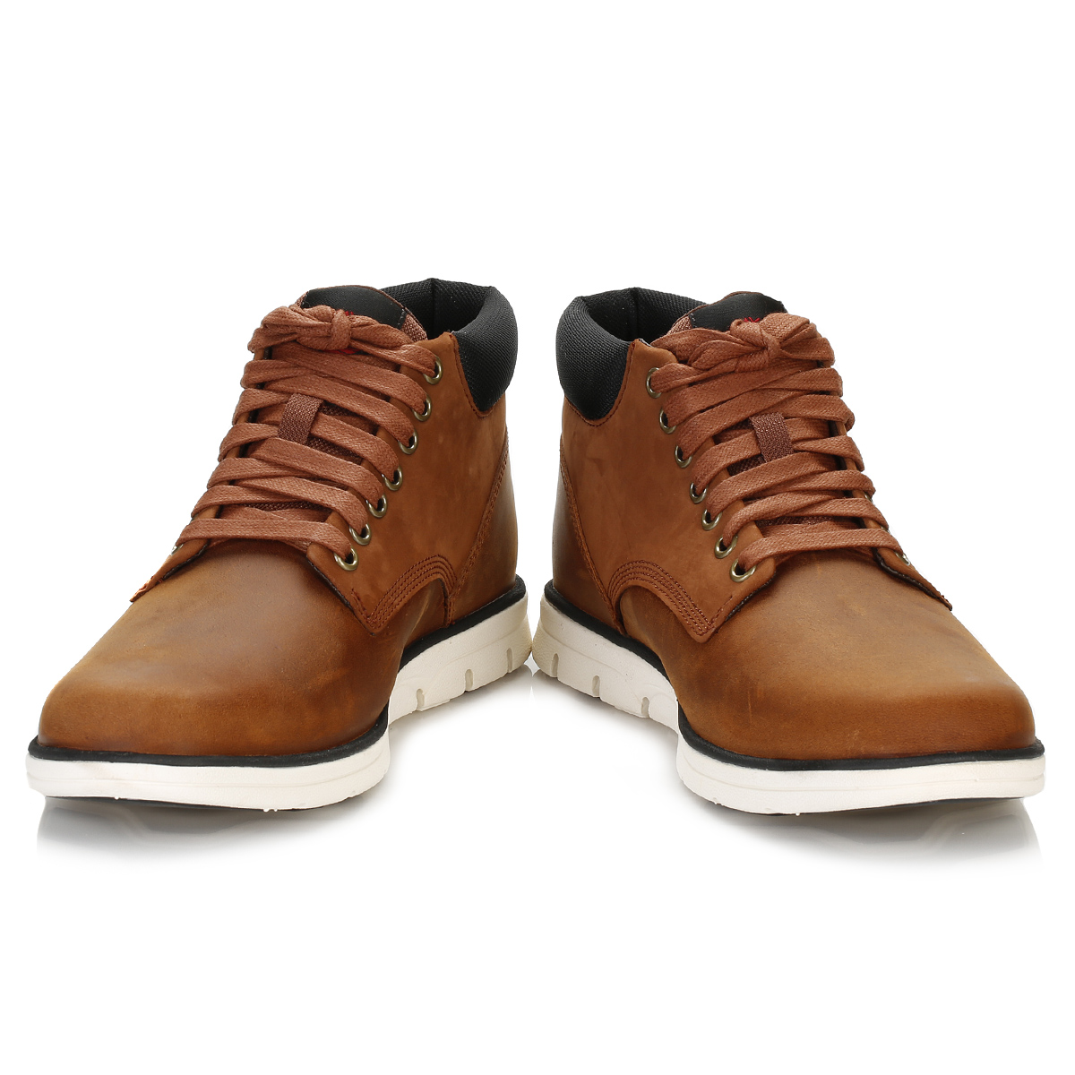 Timberland Mens Chukka Boots Red Brown Bradstreet Leather