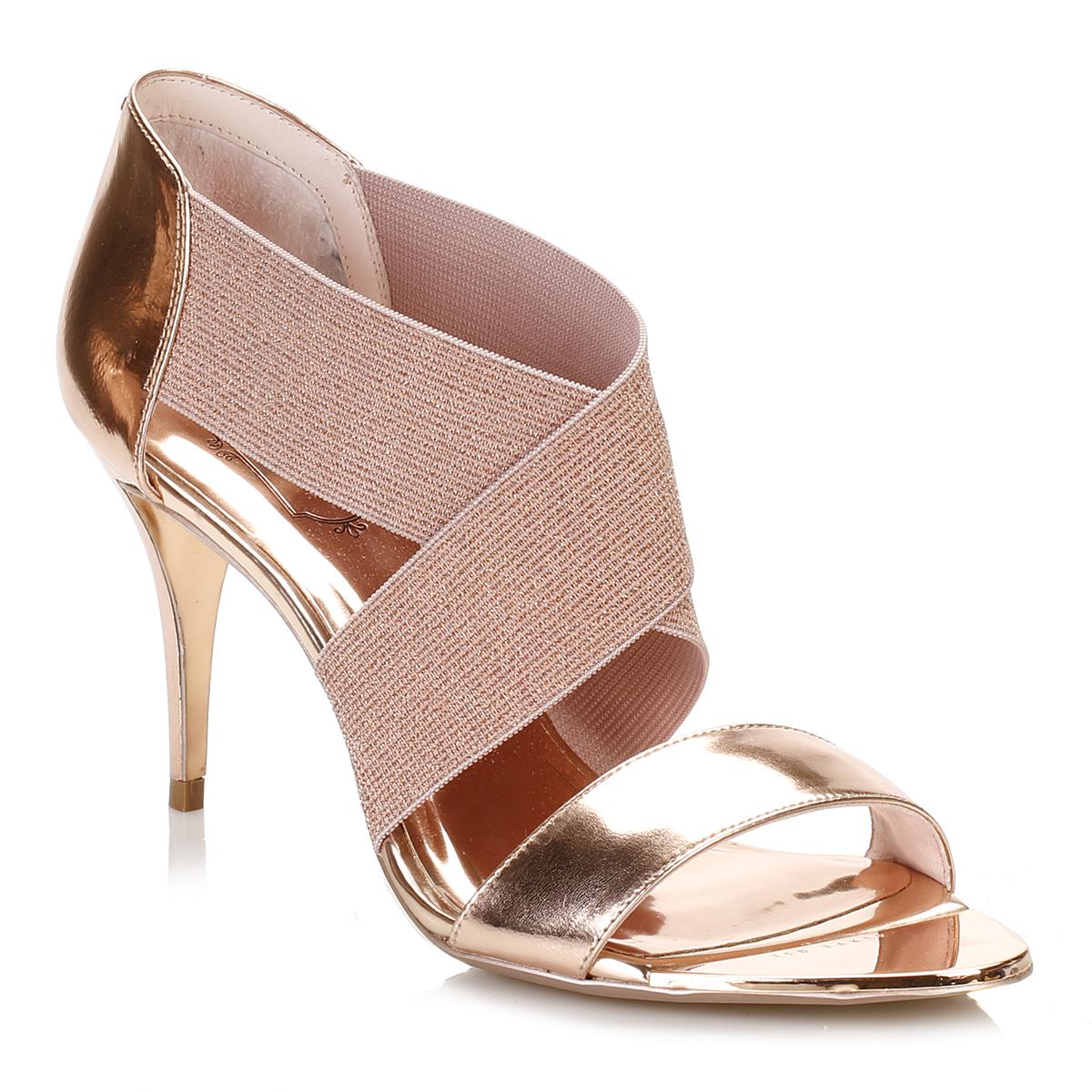 Ted Baker Womens Court Shoes Rose Gold Leniya Leather Slip ...