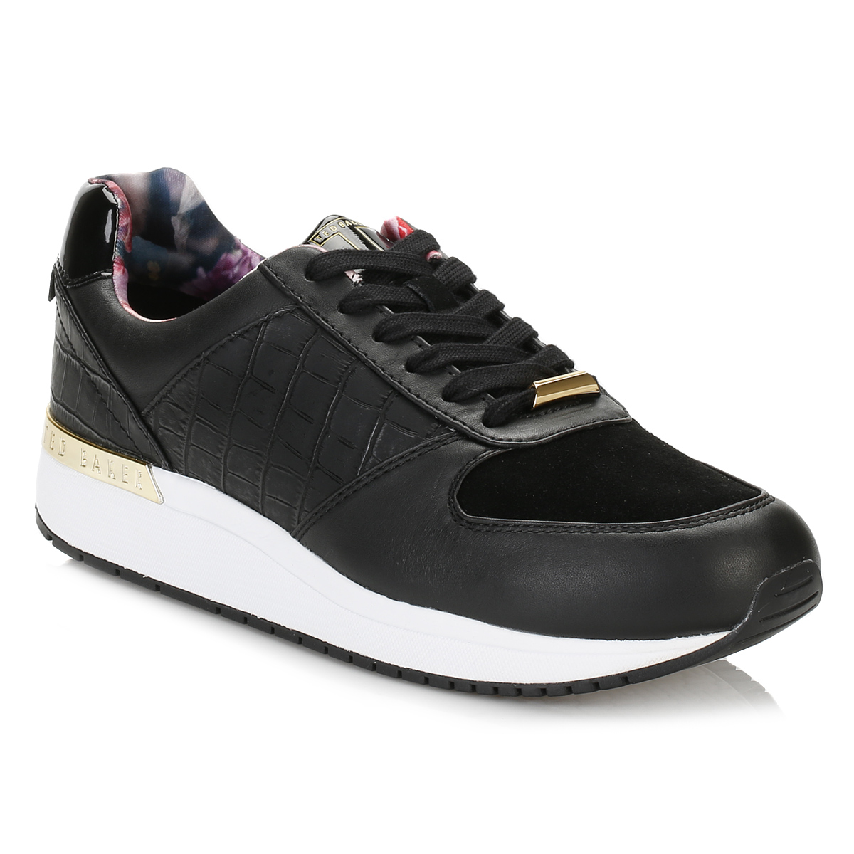ted baker womens trainers black lwoire 3 lace up sport