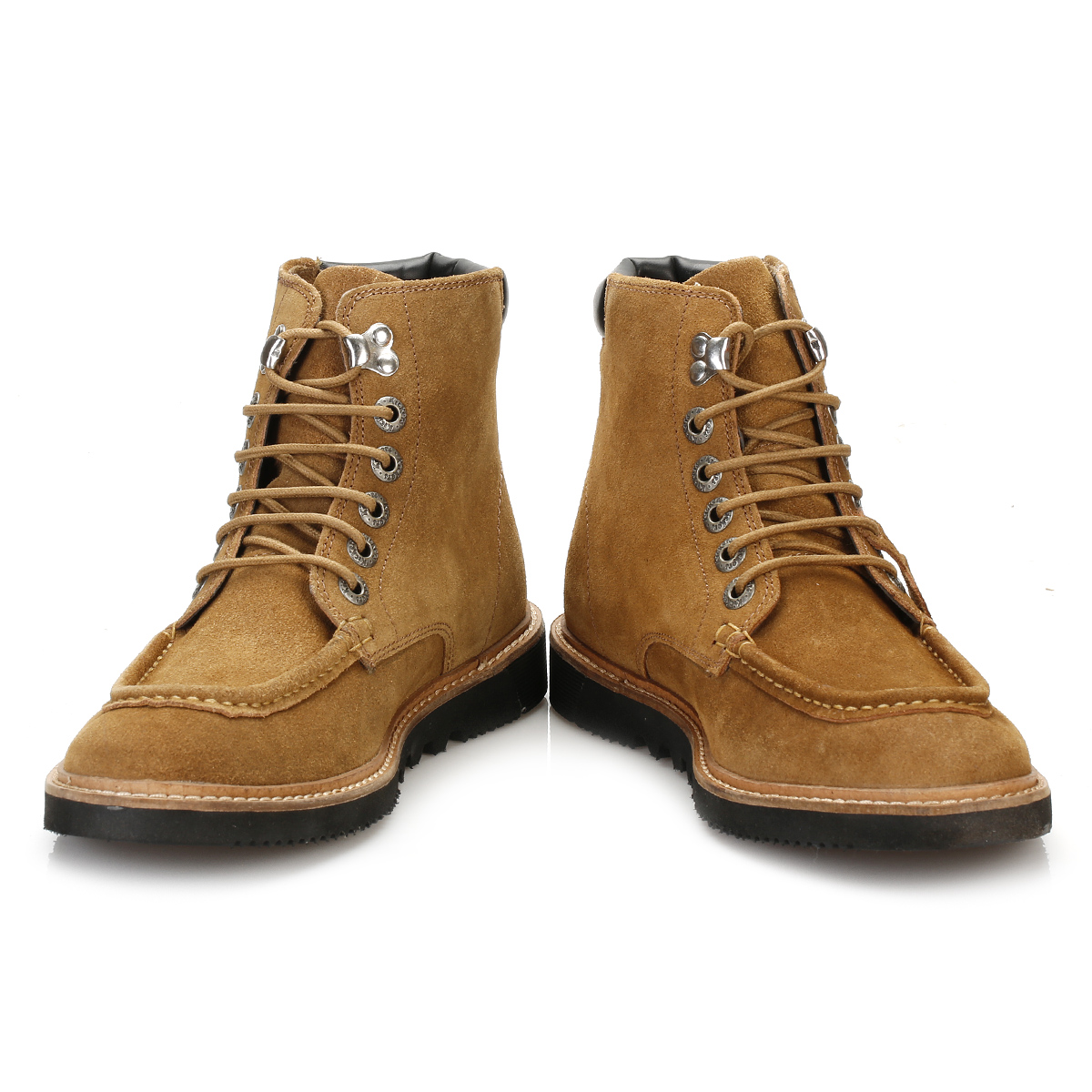 kickers mens ankle boots brown kwamie boat lace up