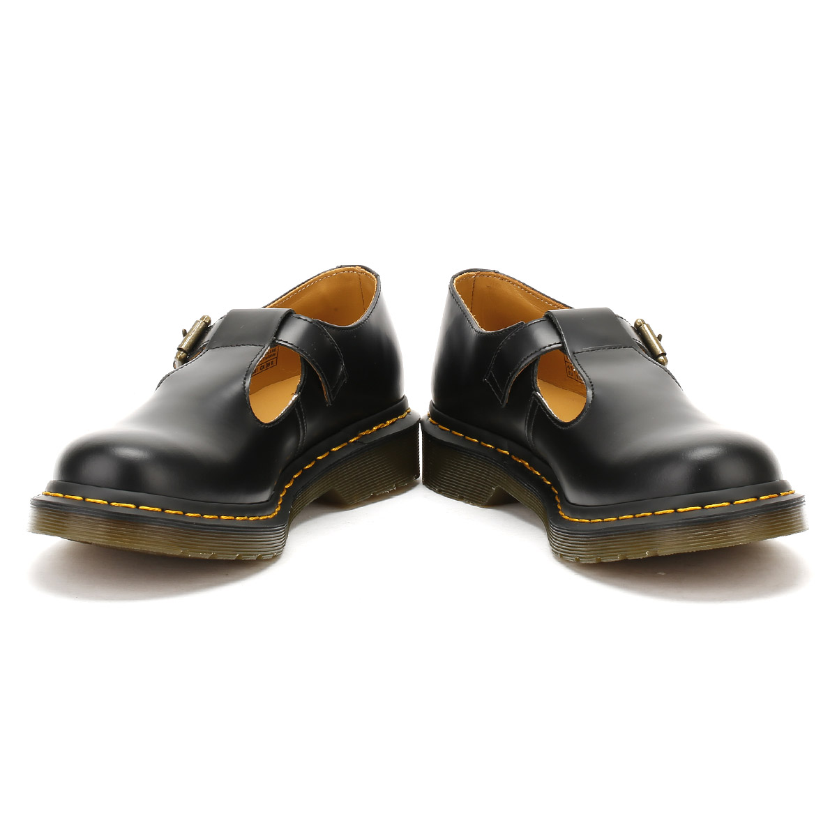 dr martens womens black smooth polley shoes leather casual ladies ebay. Black Bedroom Furniture Sets. Home Design Ideas
