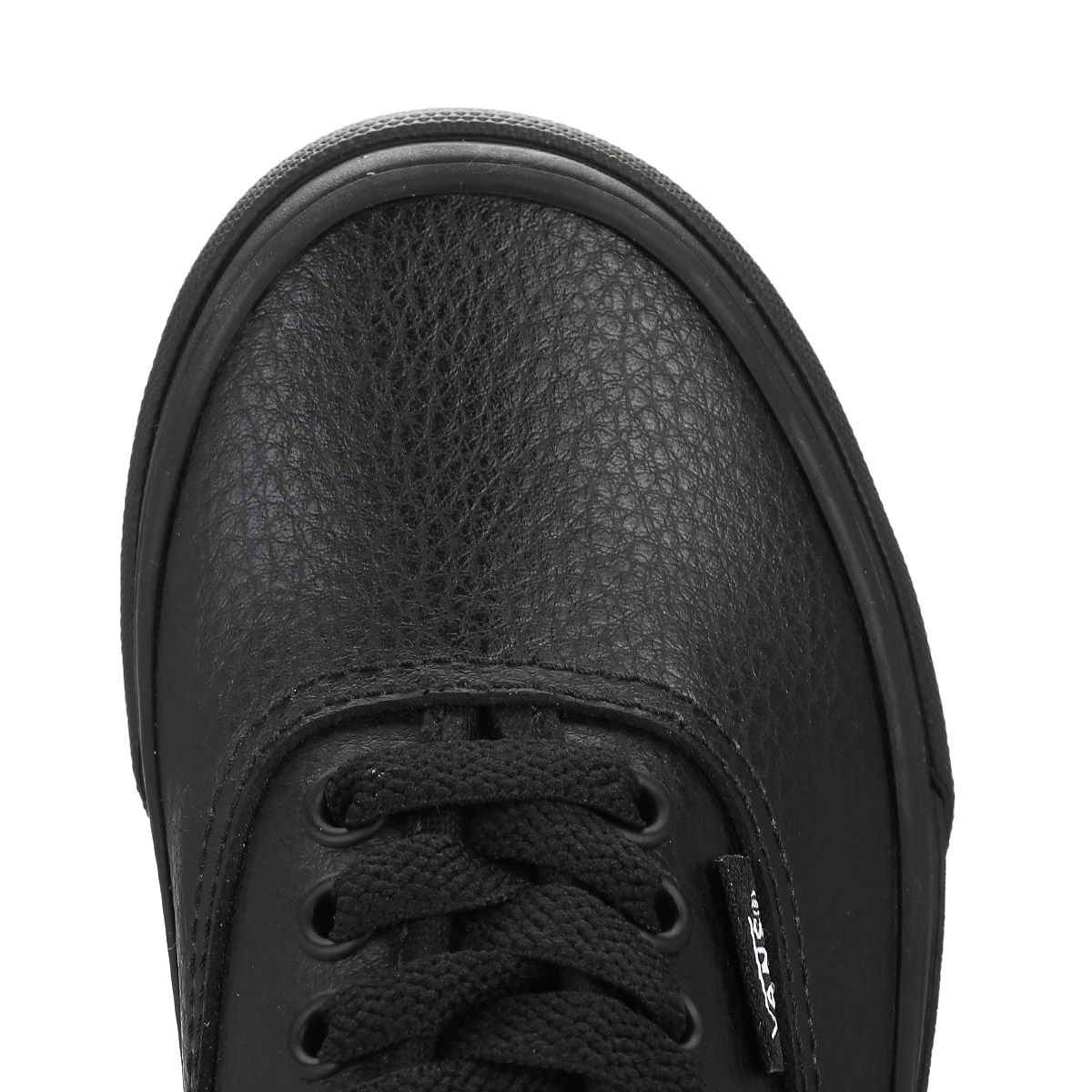leather vans black kids