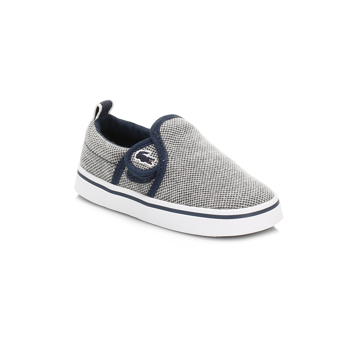 Lacoste Infants Trainers Navy Blue Gazon Slip On Hook & Loop Canvas Sport Shoes
