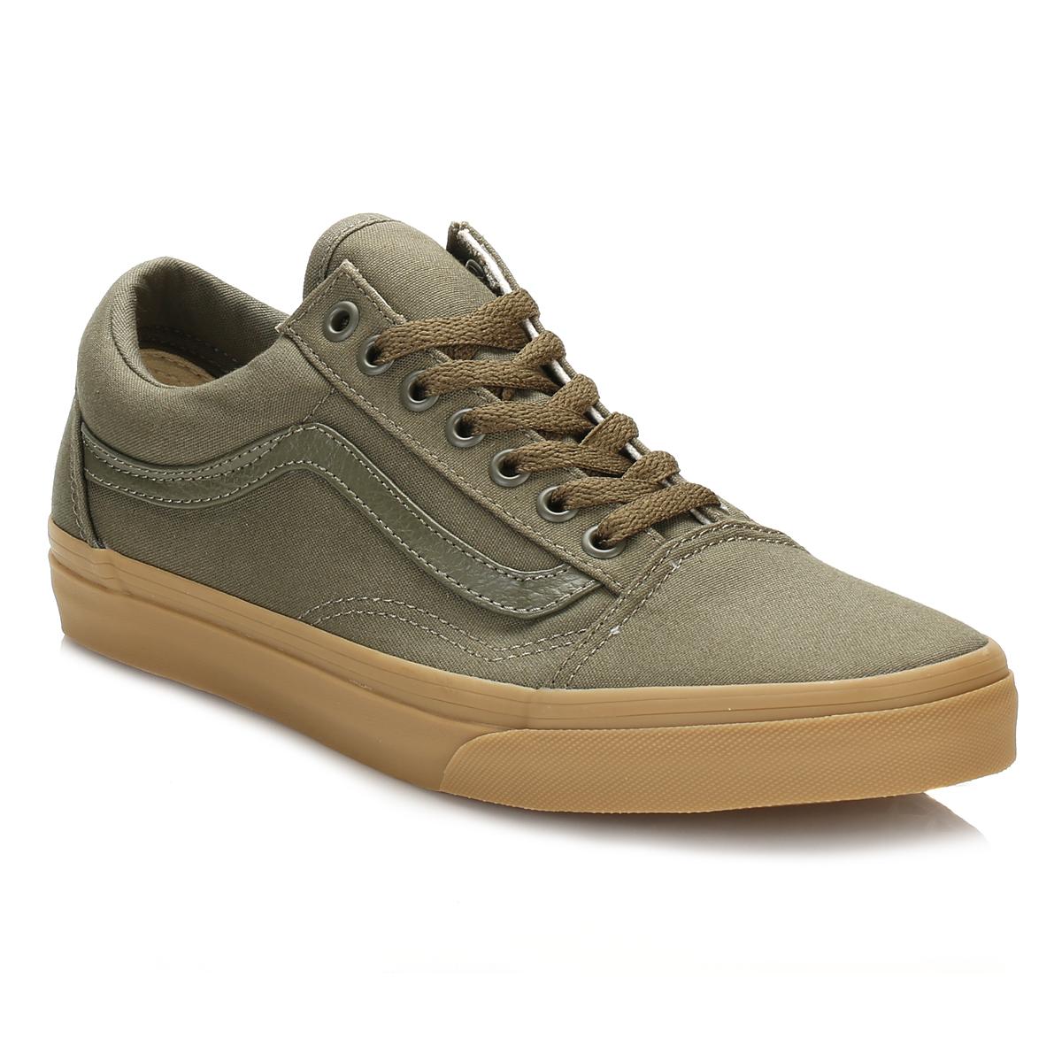 vans mens trainers ivy green light gum old skool lace up. Black Bedroom Furniture Sets. Home Design Ideas