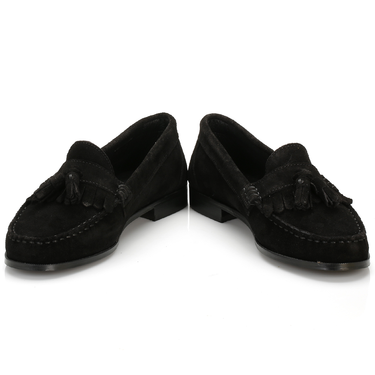tower womens black suede tassel loafers casual