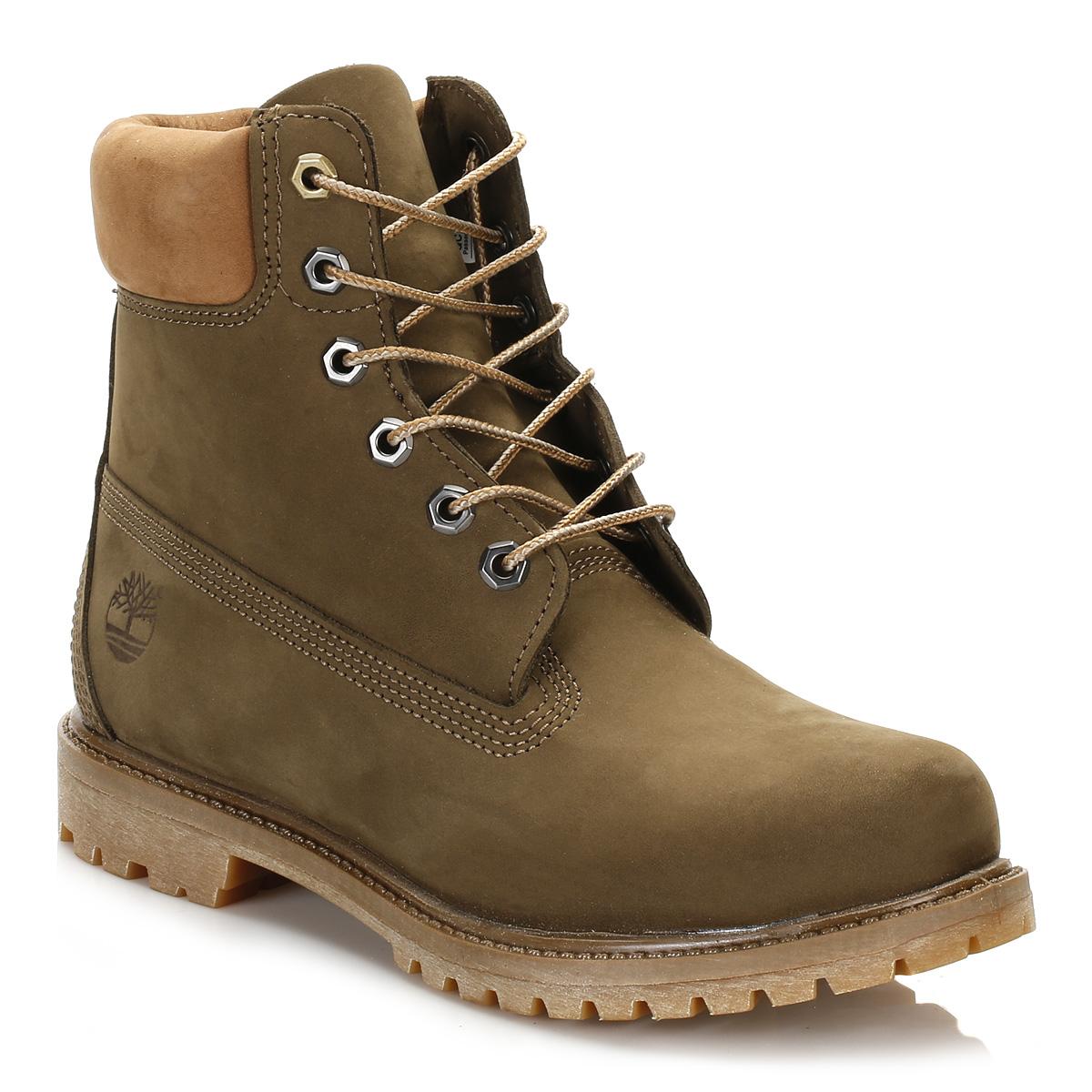 Timberland Womens Boots Dark Olive 6 Inch Premium
