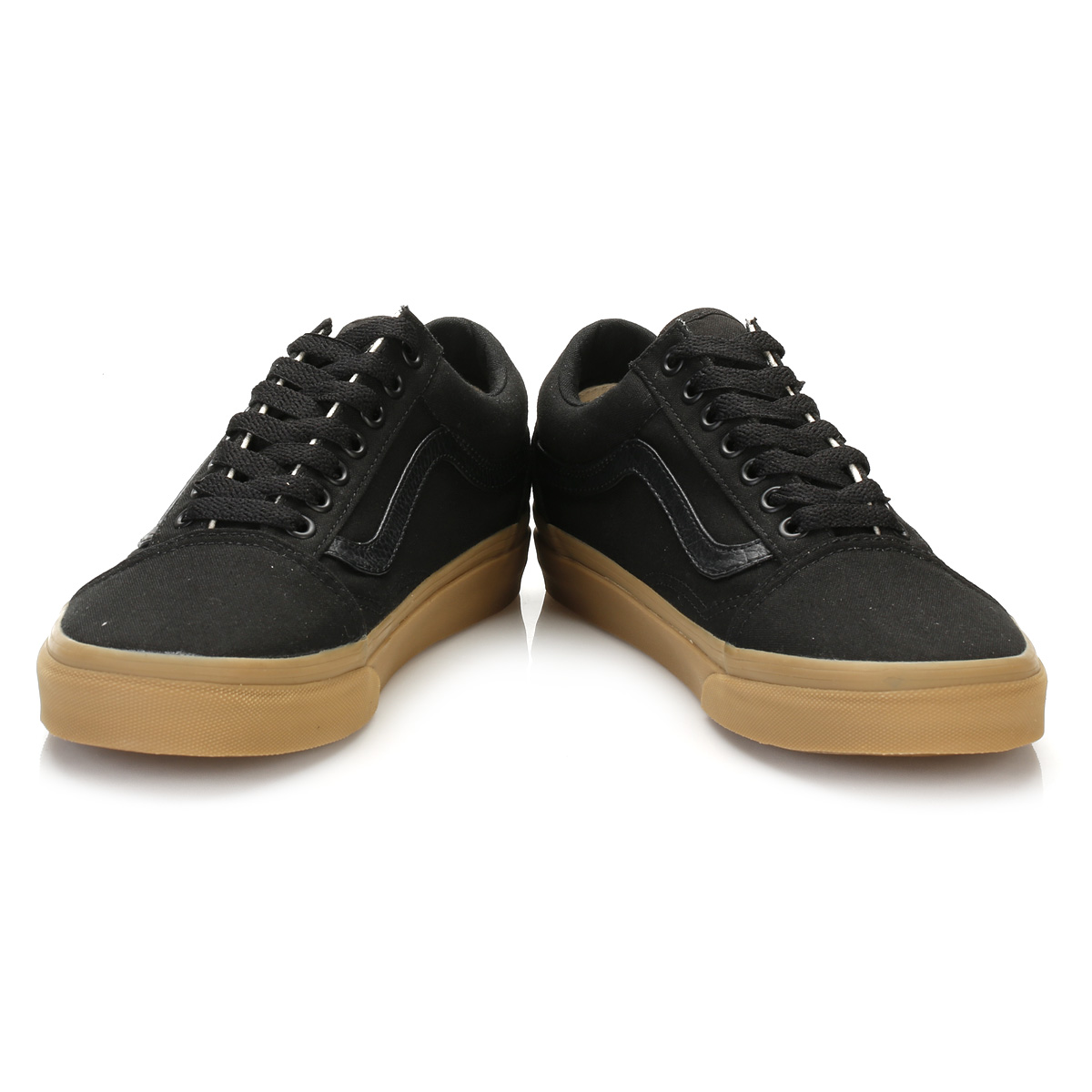Vans Mens Trainers Black Light Gum Old Skool Lace Up Sport
