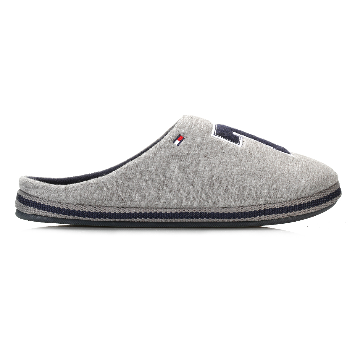 tommy hilfiger mens slippers grey textile slip on home. Black Bedroom Furniture Sets. Home Design Ideas