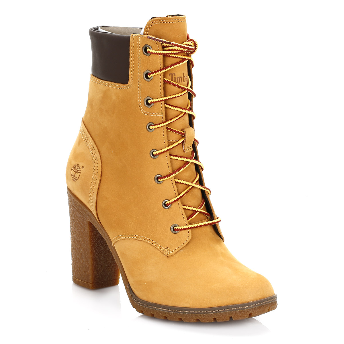 Simple  Timberland  Timberland Womens Wheat 14 Inch SideZip LaceUp Boots