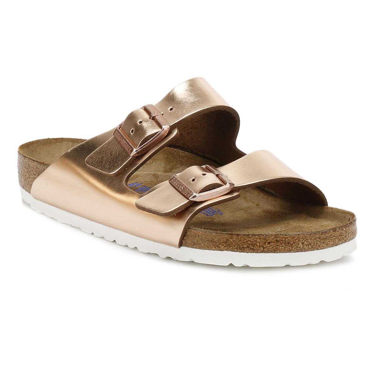 Birkenstock Womens Sandals Arizona Metallic Copper Brown ...