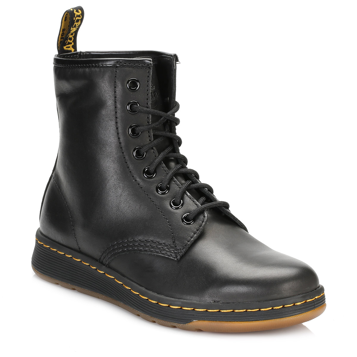 dr martens unisex mid calf boots black newton 8 eye lace up leather casual shoes ebay. Black Bedroom Furniture Sets. Home Design Ideas