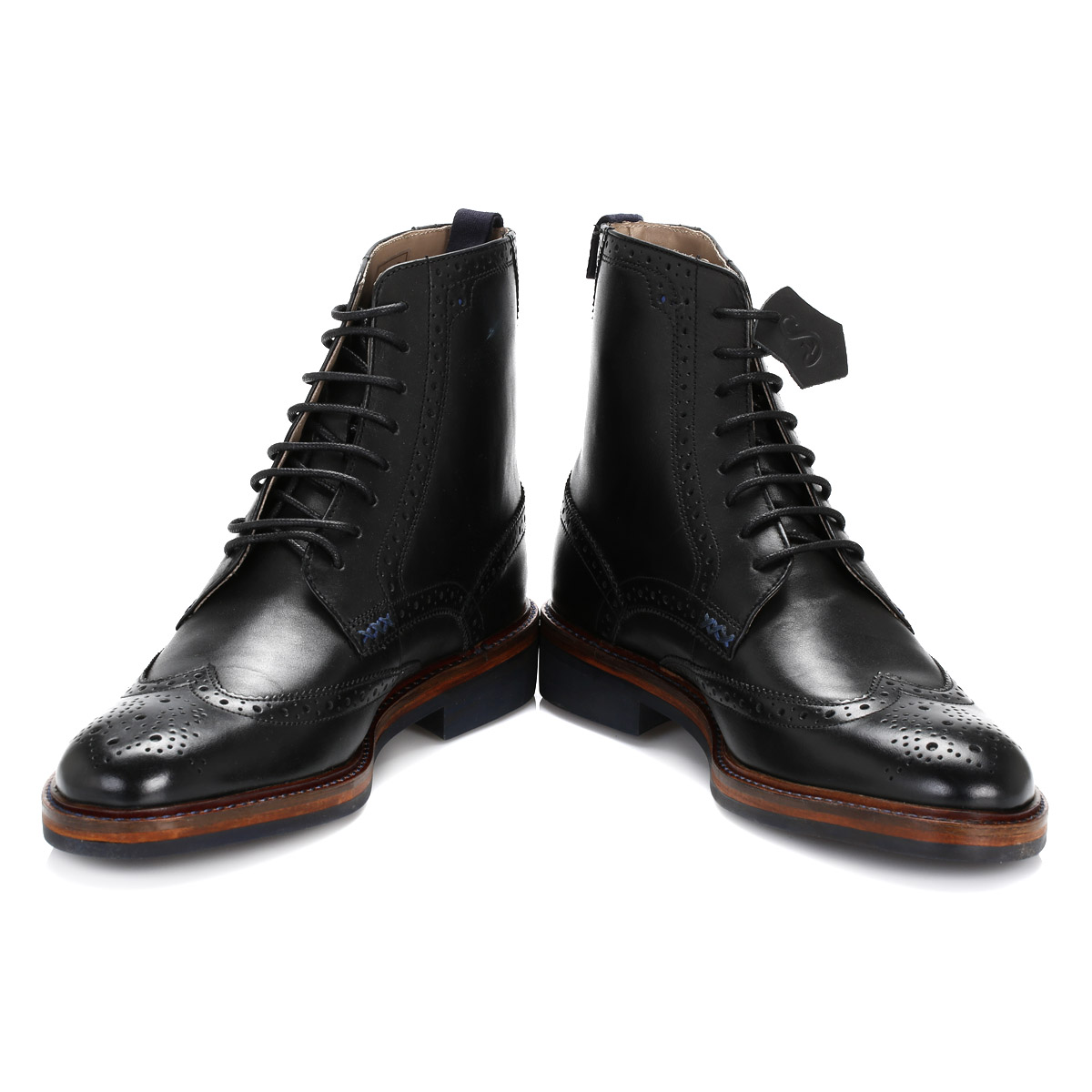 oliver sweeney mens ankle boots black airton leather