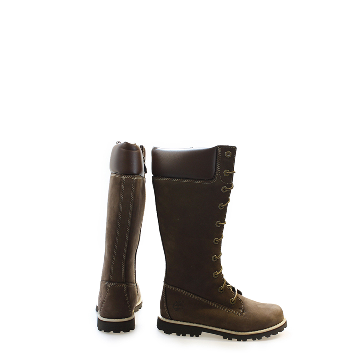 timberland knee high boots lace up asphalt trail