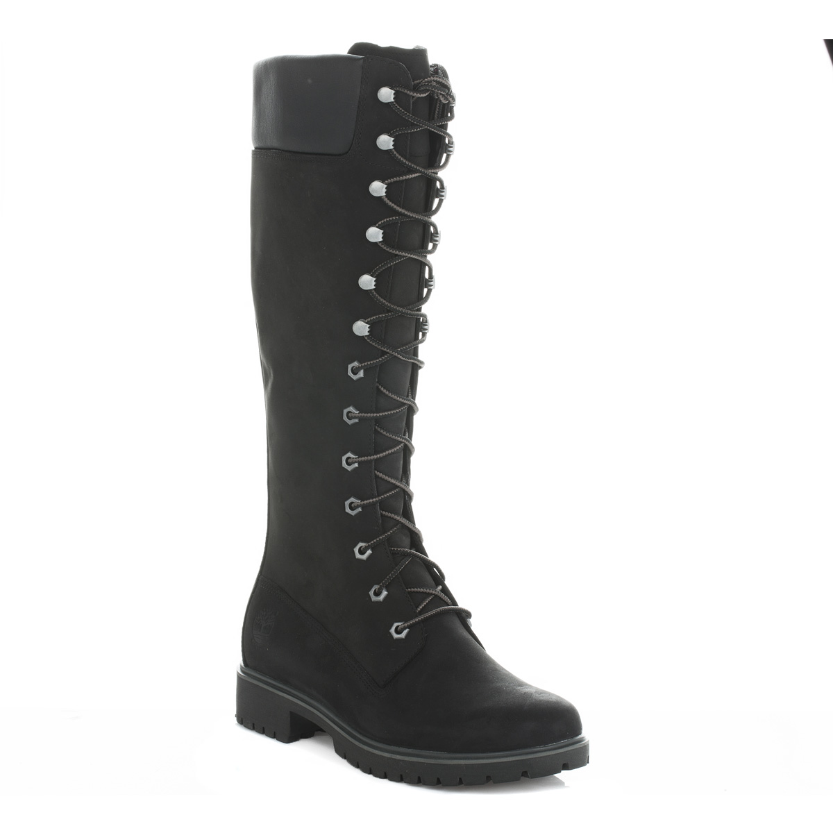 Timberland Womens Ladies Lace Up Black Premium 14 Inch Tall Boots Shoes C8167R