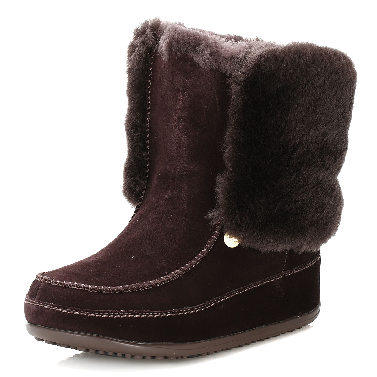 fitflop womens brown suede boots supercuff mukluk