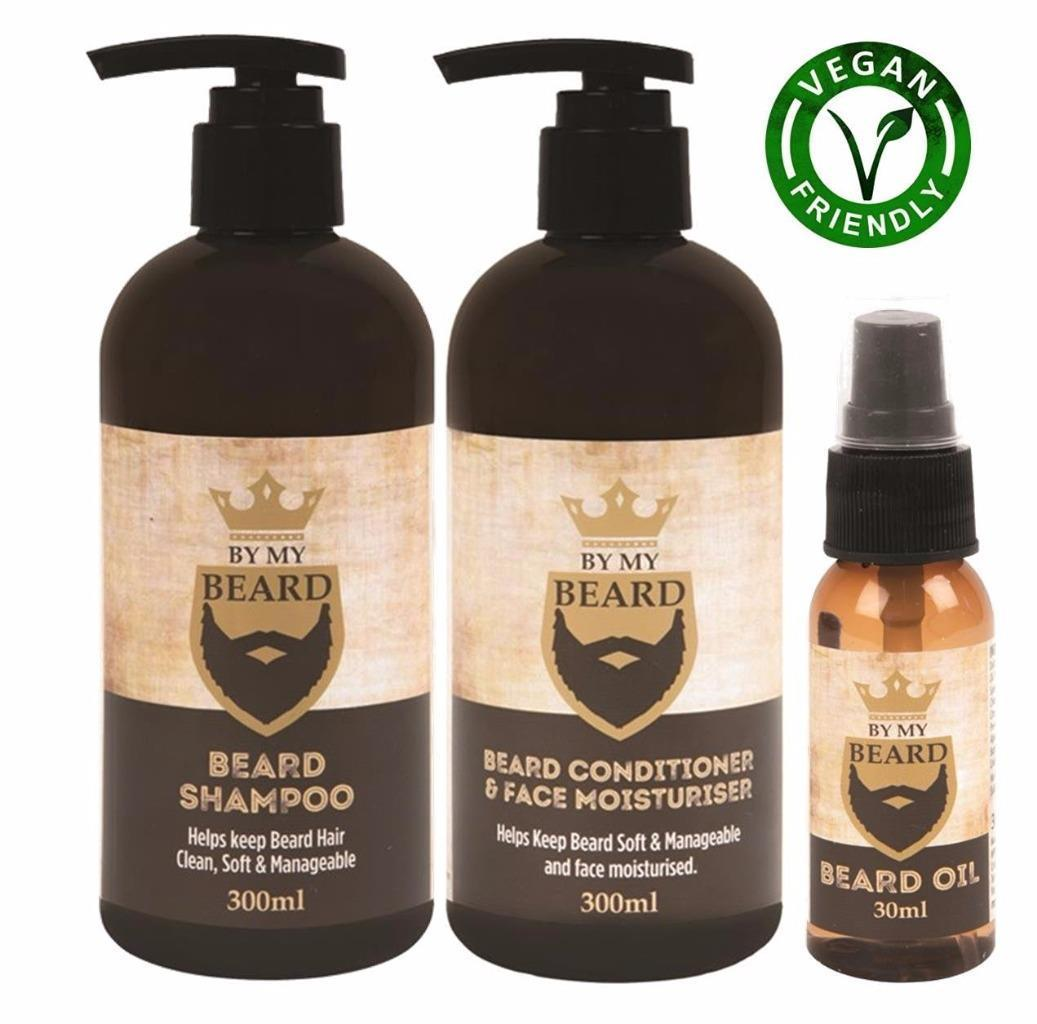 beard moustache care essentials lot shampoo conditioner oil grooming kit ebay. Black Bedroom Furniture Sets. Home Design Ideas