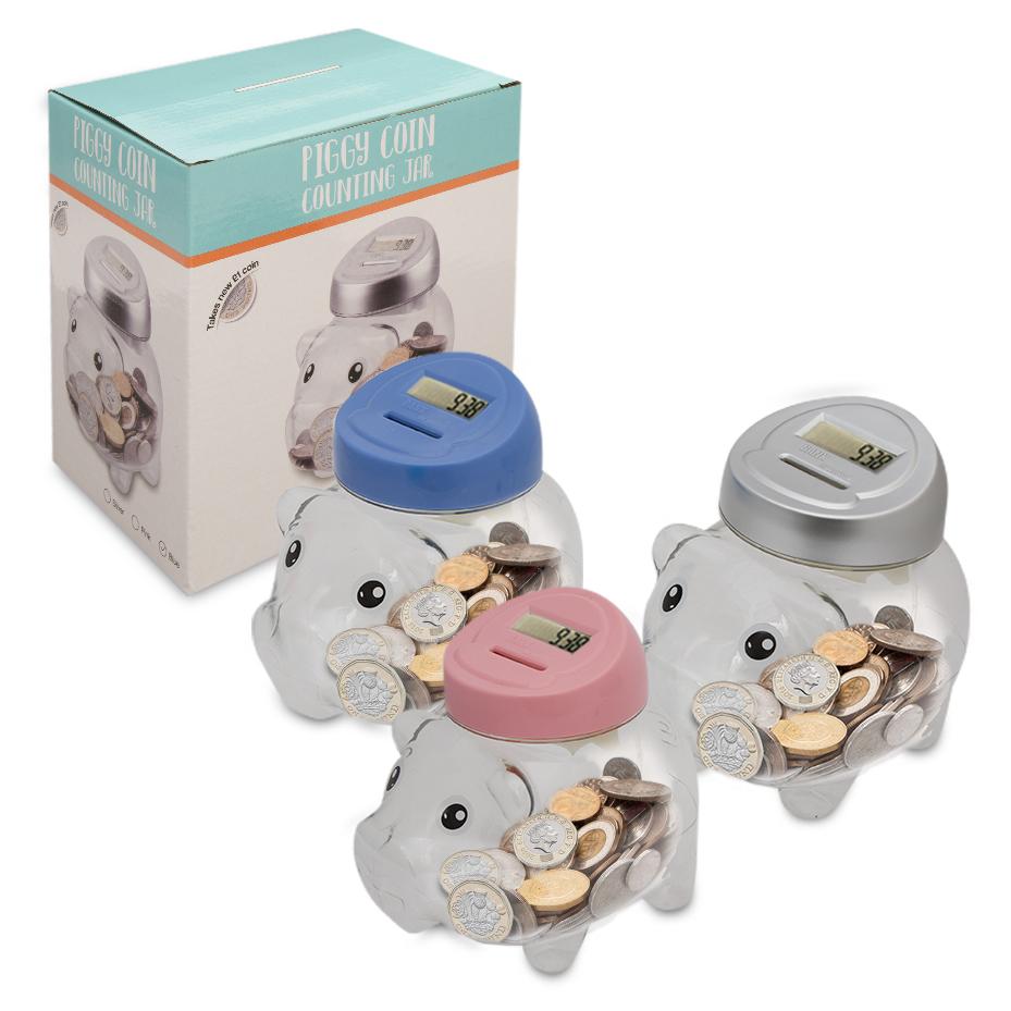 Lcd display digital coin counting jar piggy bank memory function money box ebay - Counting piggy bank ...
