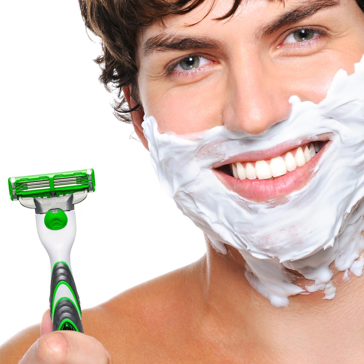 gillette mach 3 power razor for sensitive skin mens facial hair shaving blade. Black Bedroom Furniture Sets. Home Design Ideas