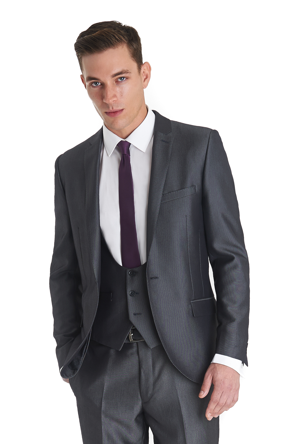 """""""A suit jacket should come down to the first knuckle on your thumb. Too many people are cutting short jackets now, and they just make men look too heavy in the middle."""""""