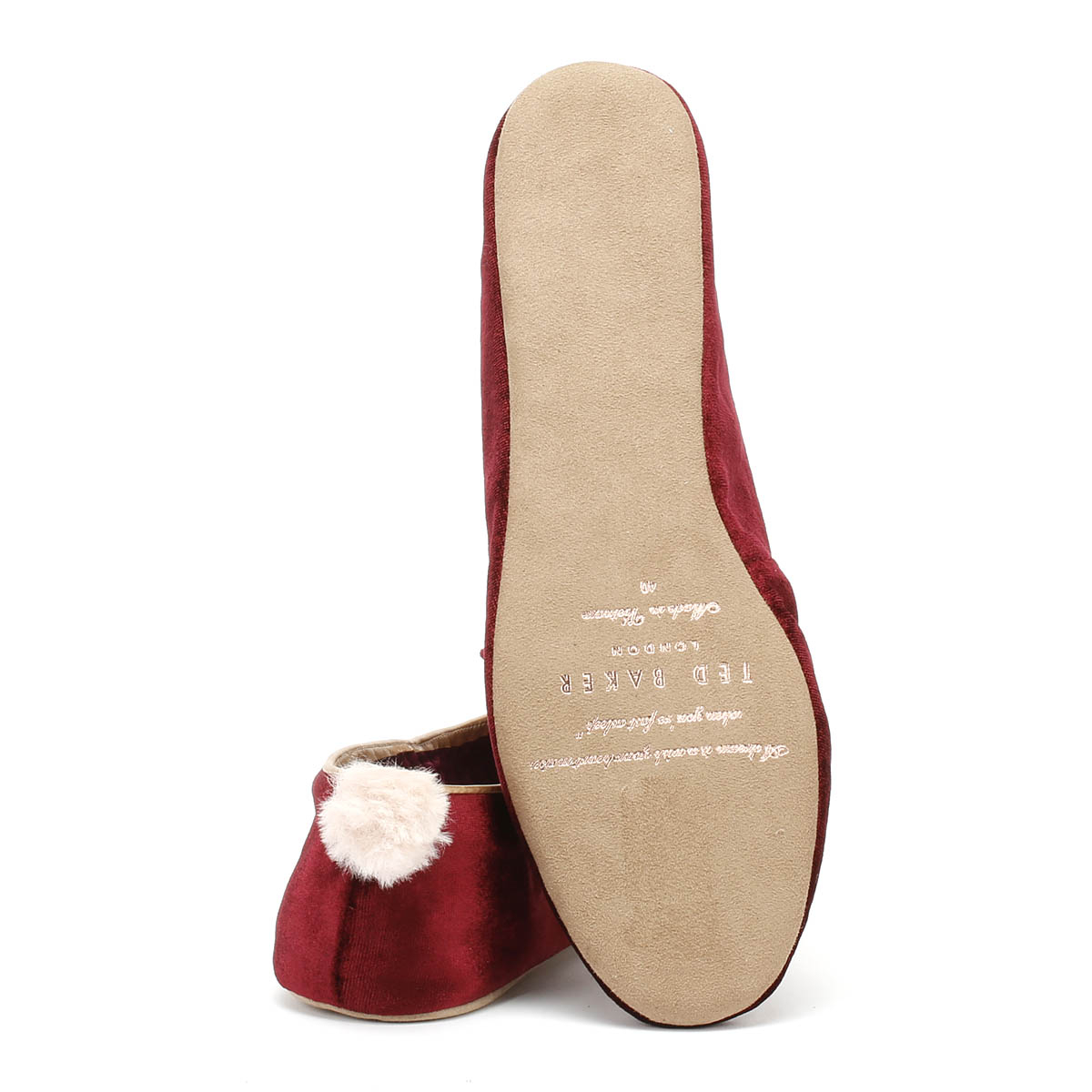 Ted Baker bhunni Femme Bordeaux Chaussons Casual femmes home shoes