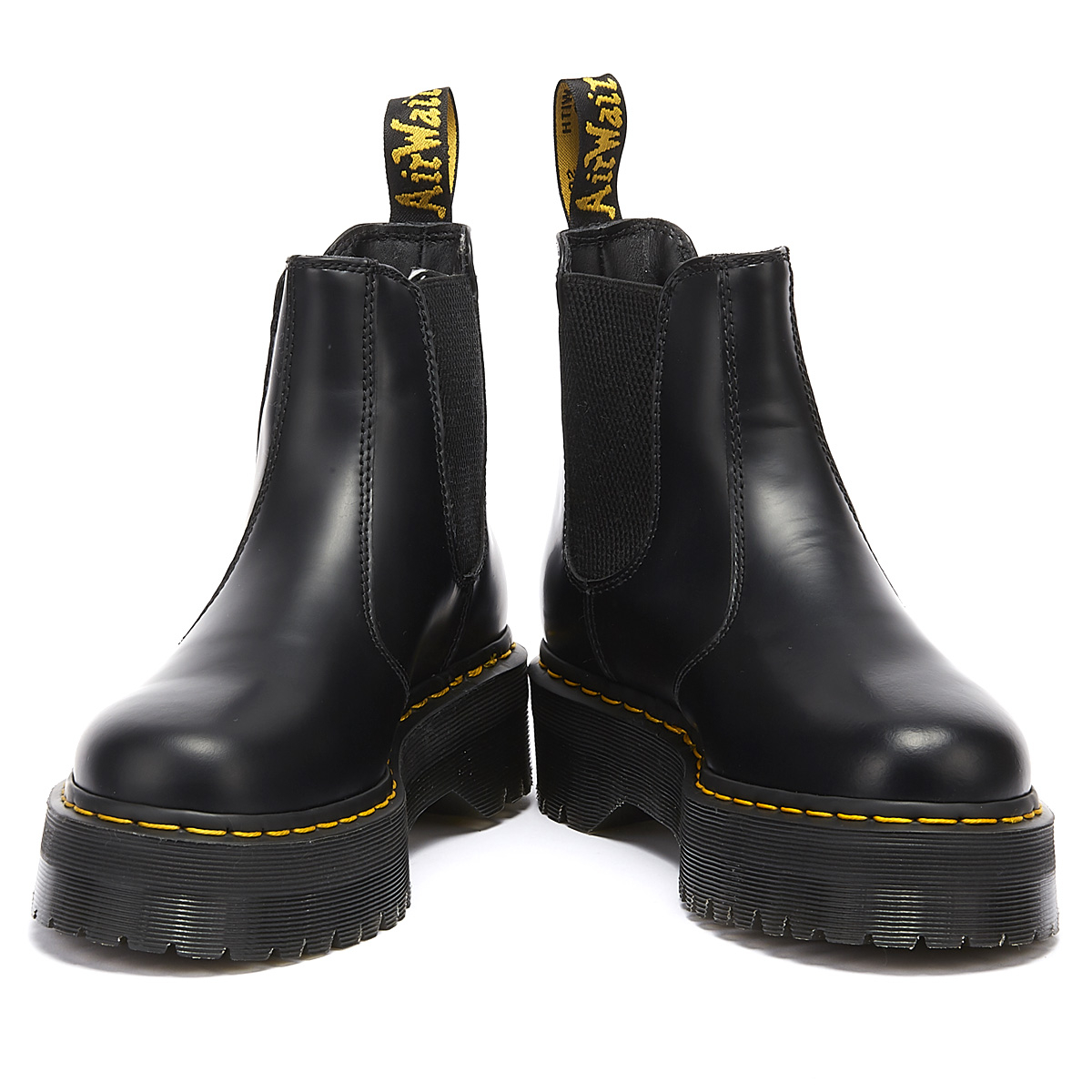 Martens 2976 Quad Womens Smooth Black Boots Warm Winter Leather Shoes Dr