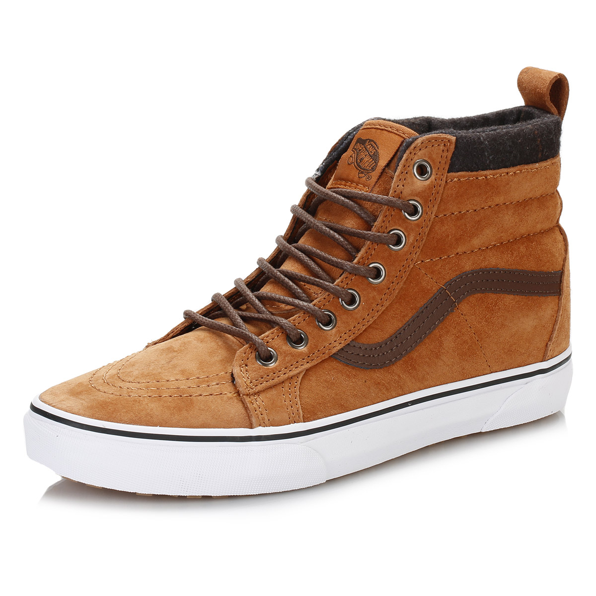 Vans Mens Trainers, Brown SK8 High Tops, Suede Casual ...