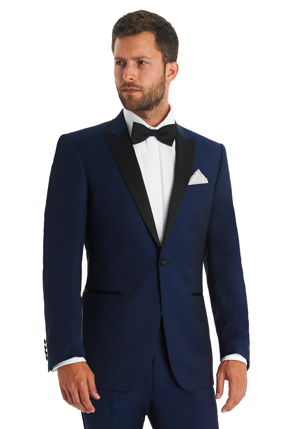 Moss 1851 Mens Suit Tailored Fit Bright Blue Wool Formal Tuxedo 2 ...