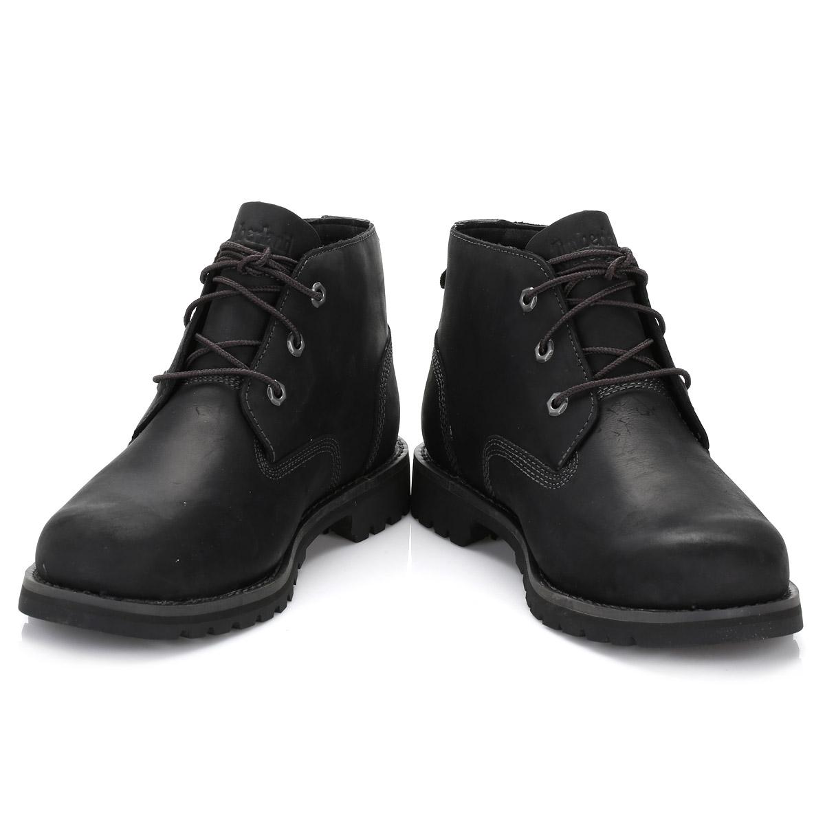 timberland mens chukka boots black leather larchmont