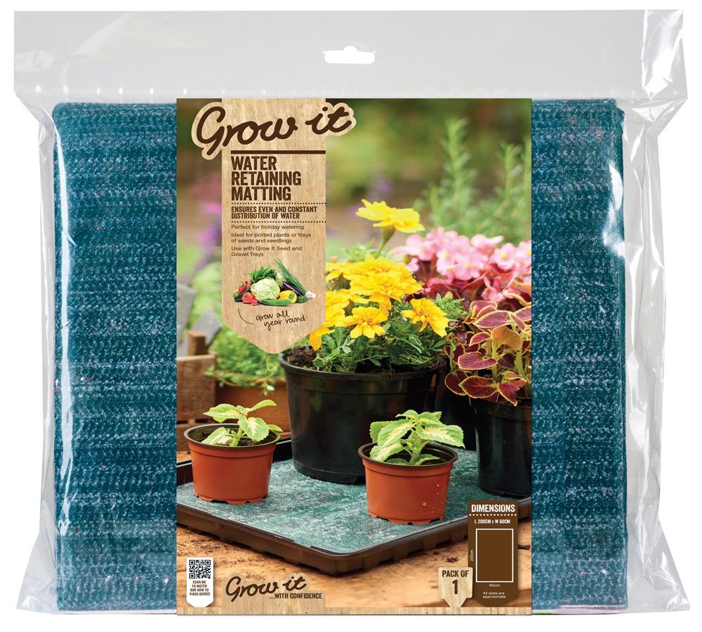 Water Retaining Plants : Gardman water retaining matting for indoor and greenhouse