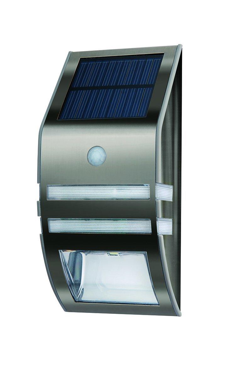 Cole & Bright Solar Motion Sensor Black Nickel White LED Wall Light 17x7.8cm eBay