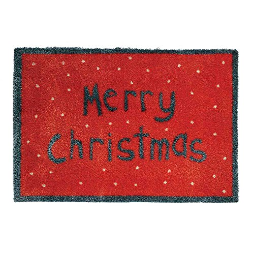 Merry Christmas Red Non Slip Washable Outdoor Holiday
