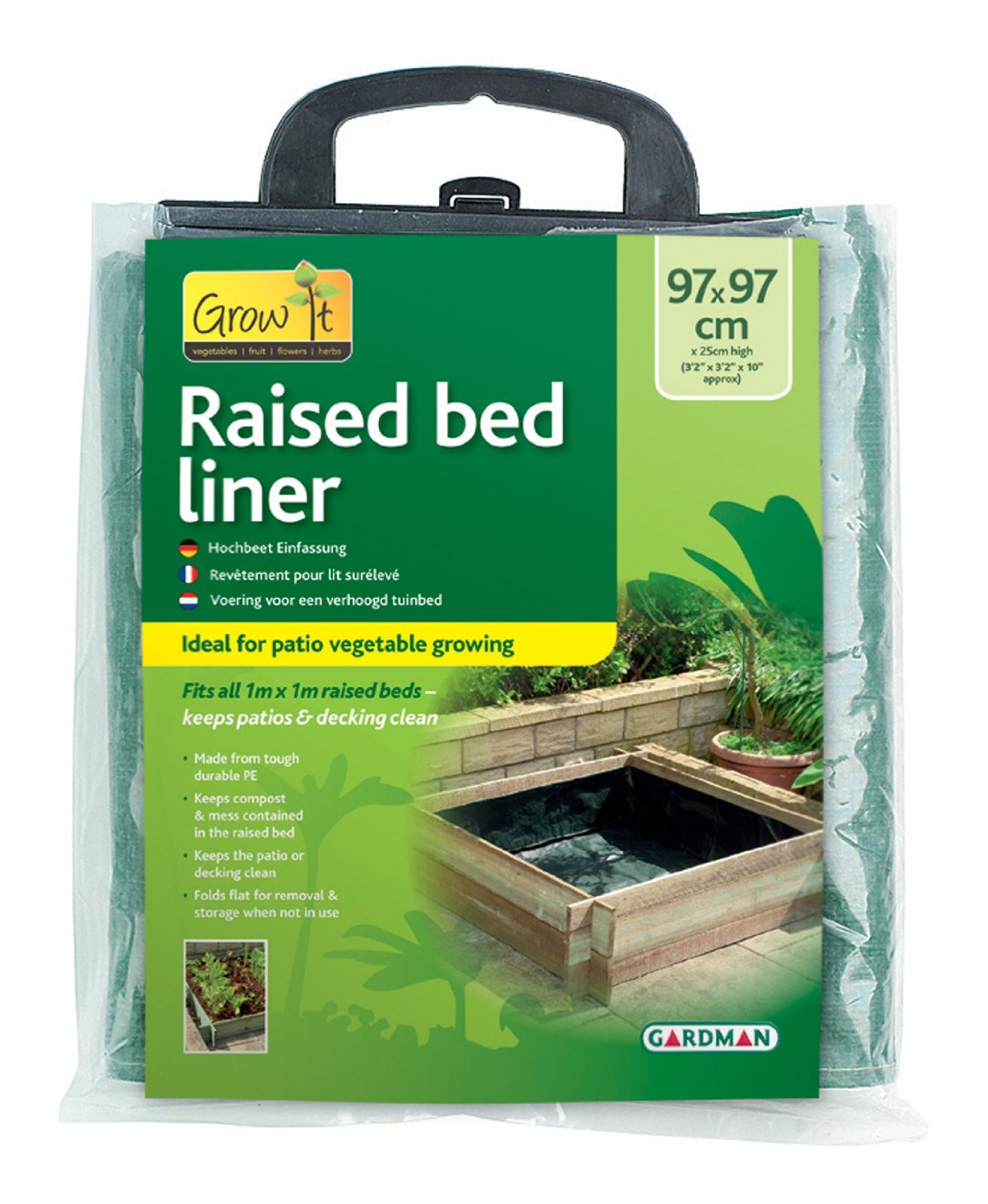 Gardman Raised Bed Liner For Grow Herb Vegetable Planter