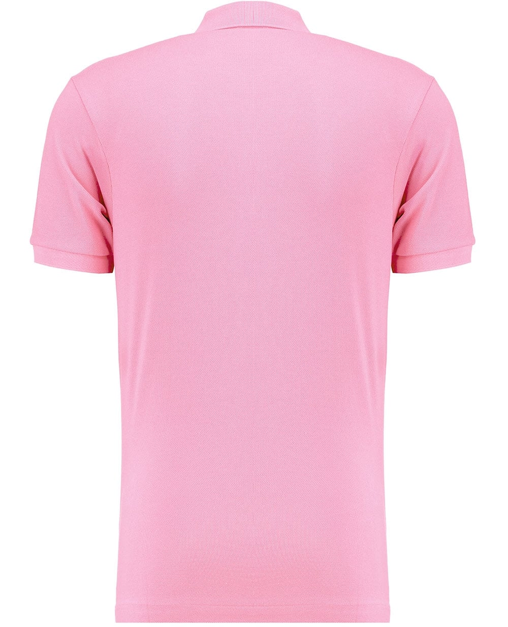 Lacoste mens peach pink classic polo shirt shortsleeves for Mens pink shirts uk