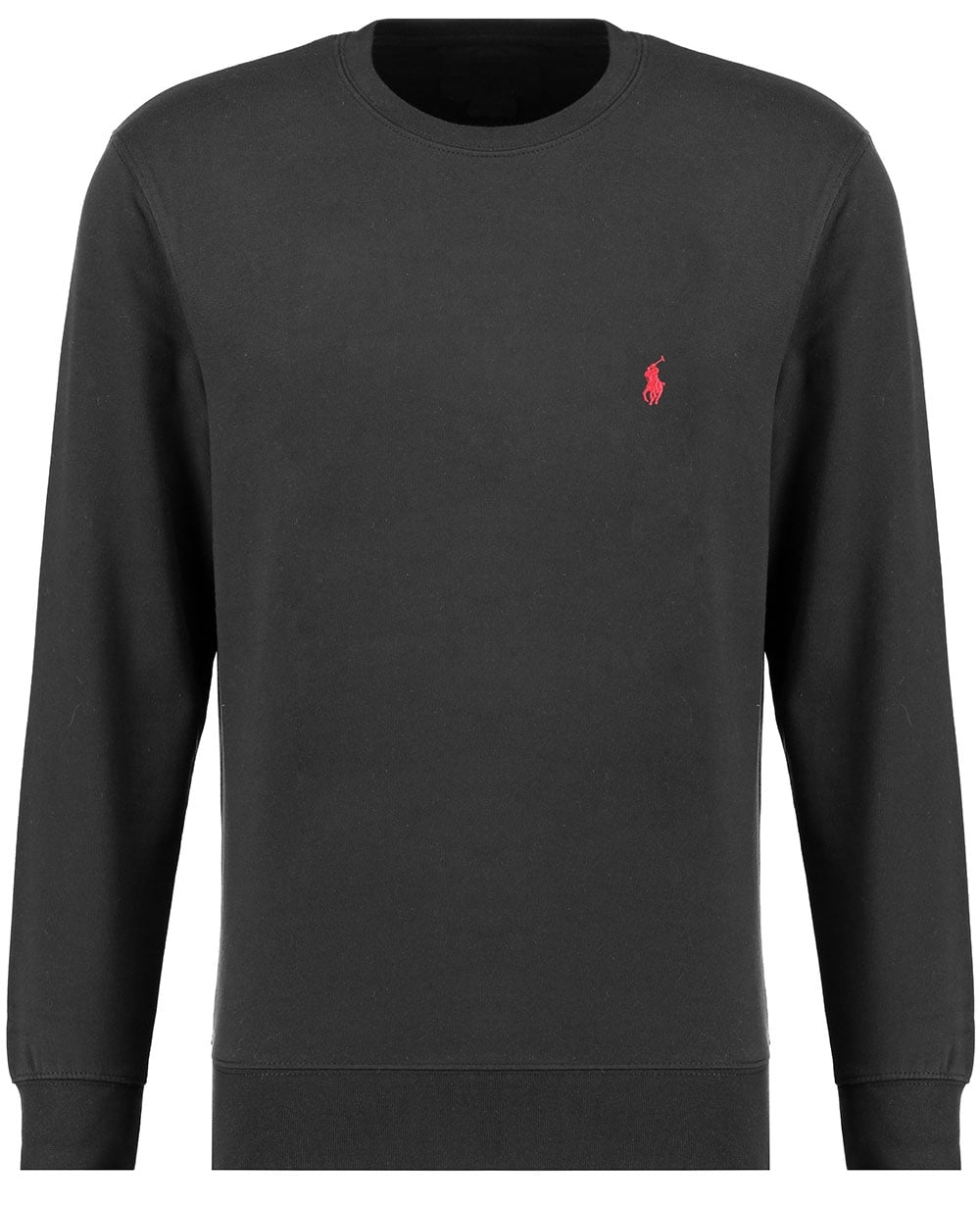 polo ralph lauren mens sweatshirt black long sleeve. Black Bedroom Furniture Sets. Home Design Ideas