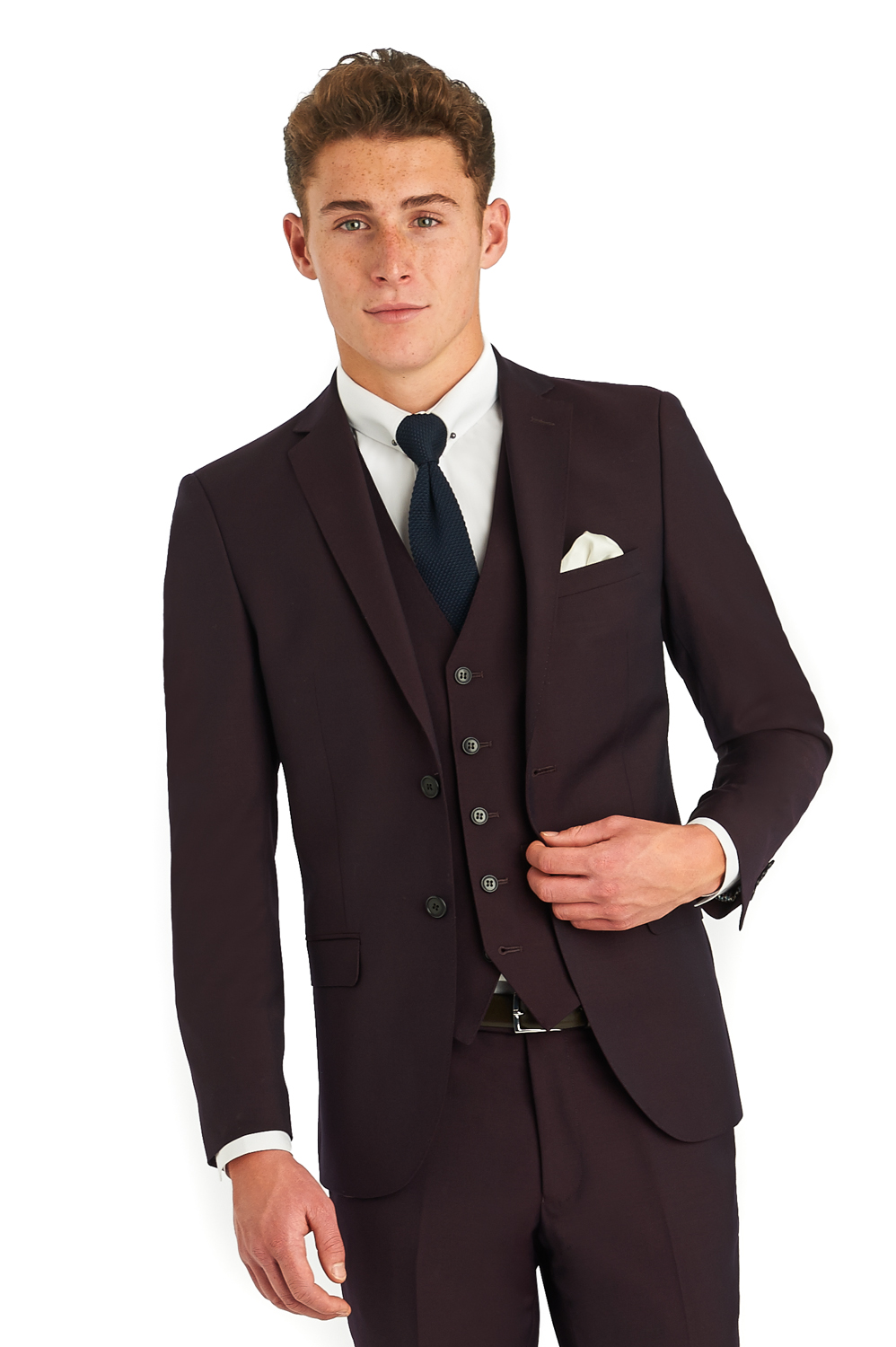Moss London Mens Wine Red Suit Jacket Skinny Fit Burgundy Formal ...