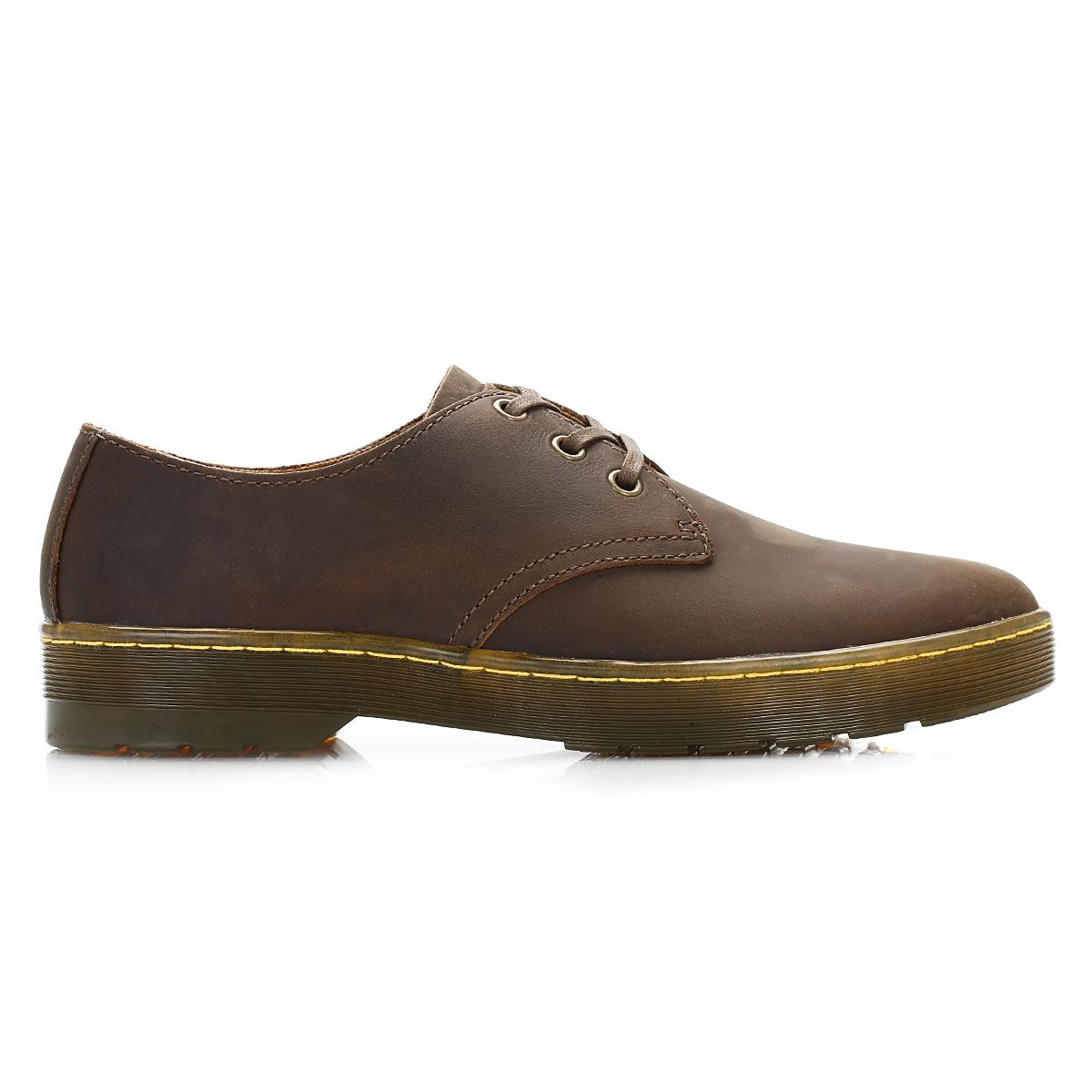 dr martens mens brown leather derby shoes lace up smart casual docs. Black Bedroom Furniture Sets. Home Design Ideas