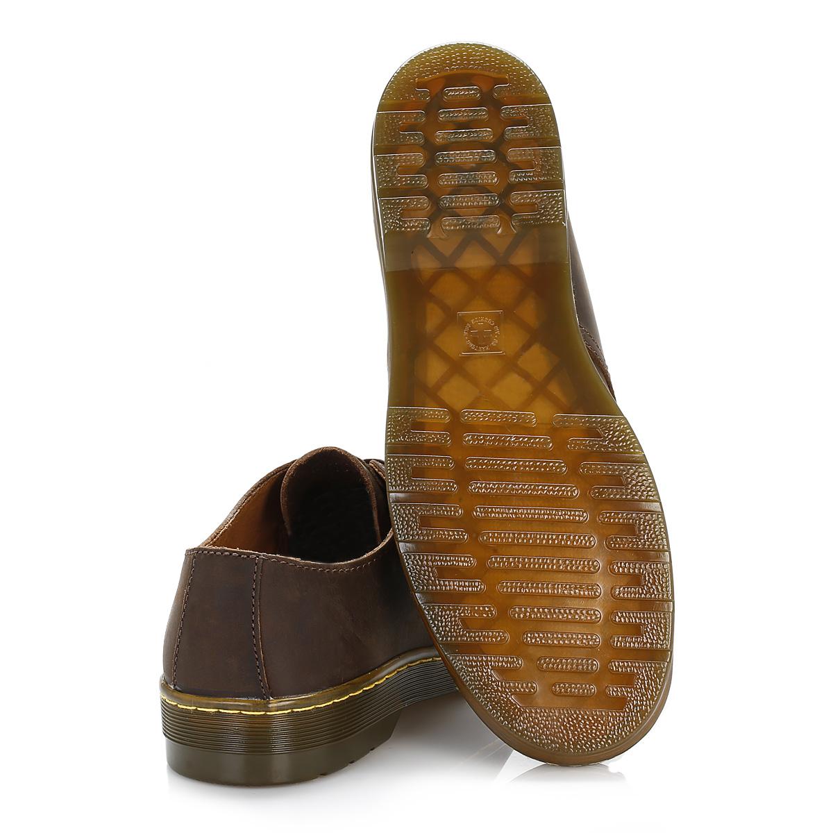 dr martens mens brown leather derby shoes lace up smart. Black Bedroom Furniture Sets. Home Design Ideas