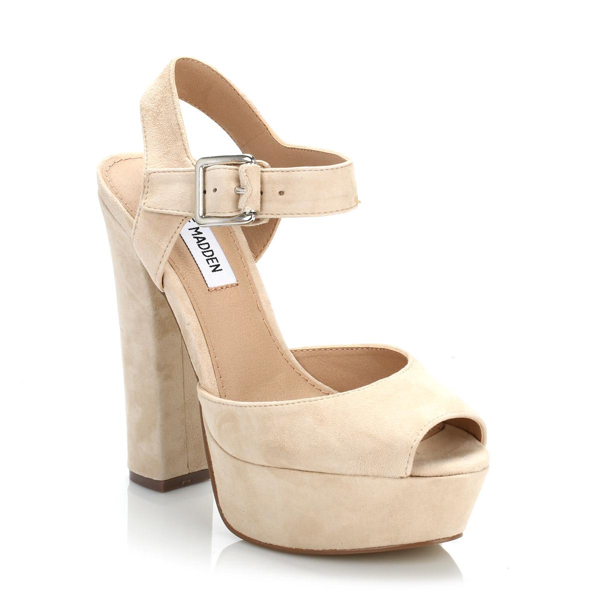 steve madden womens blush jillyy suede high heels beige ankle strap sandal shoes ebay. Black Bedroom Furniture Sets. Home Design Ideas